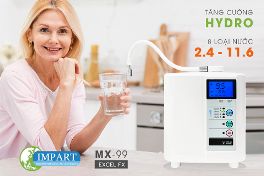 Máy lọc nước ion kiềm Impart EXCEL-FX đột phá thị trường với dải pH rộng nhất 2.4 – 11.6