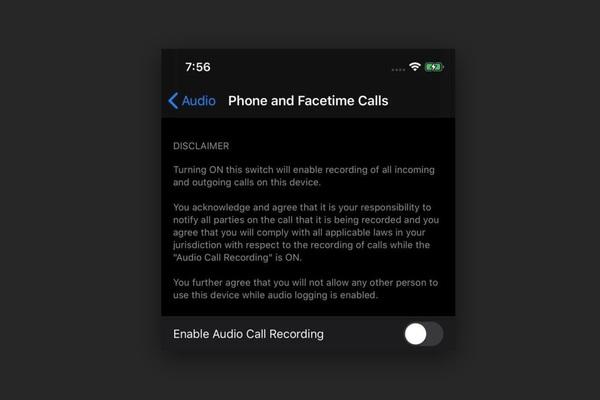 """iOS 14 """"lộ"""" hình ảnh có tính năng ghi âm cuộc gọi"""