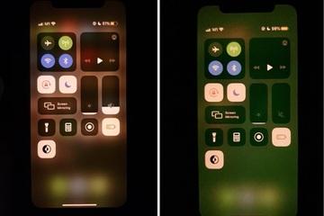 Màn hình smartphone Samsung và iPhone cùng bị lỗi ám xanh