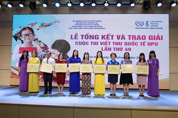 Học sinh Huế giành giải Nhất quốc gia thi viết thư quốc tế UPU 49