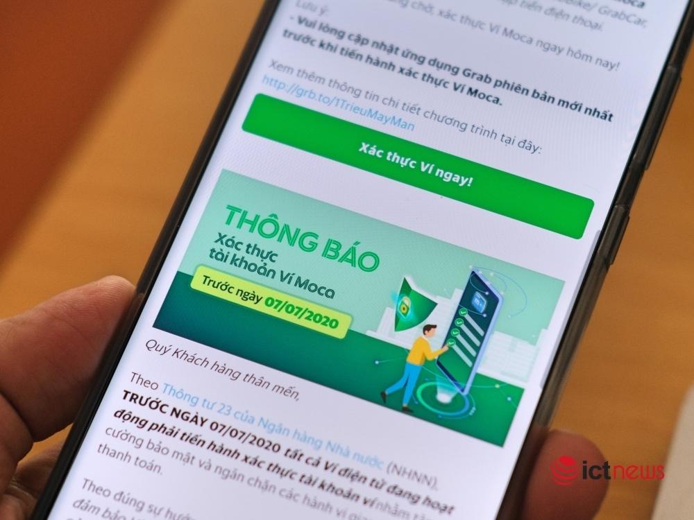Ví điện tử ráo riết khuyến nghị người dùng xác thực tài khoản