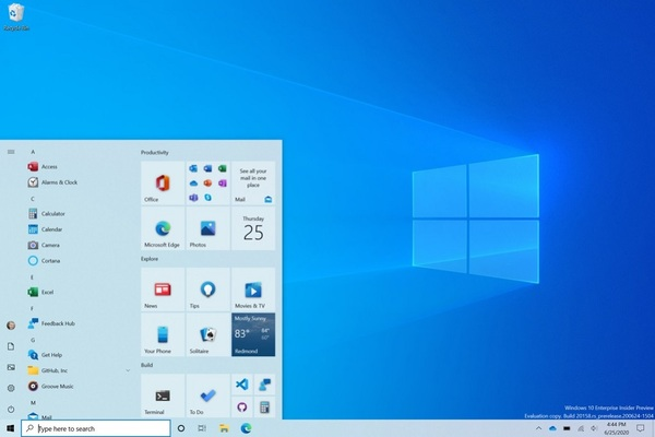 Windows 10 sắp có thay đổi giao diện đáng kể