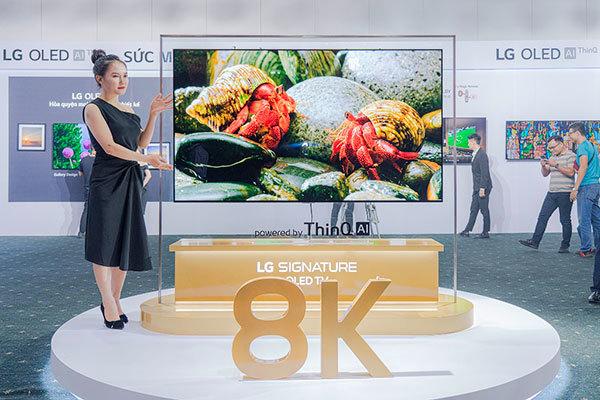 LG ra mắt dòng TV OLED 8K ứng dụng AI đầu tiên trên thế giới