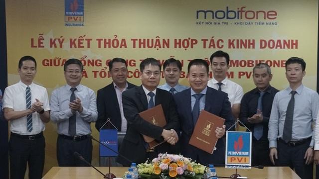 MobiFone ký kết Thỏa thuận hợp tác kinh doanh với Bảo hiểm PVI