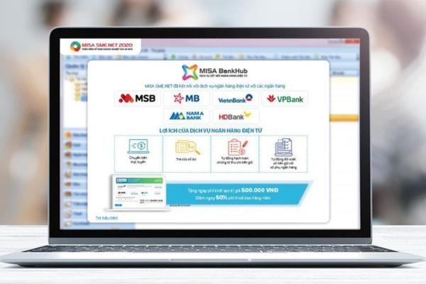 Phần mềm kế toán kết nối ngân hàng tiết kiệm 80% thời gian giao dịch cho kế toán