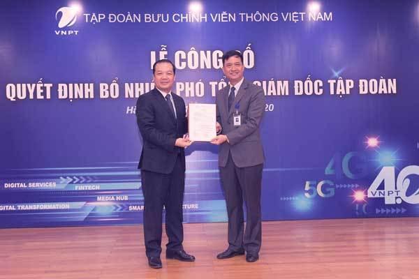 VNPT bổ nhiệm 2 Phó Tổng Giám đốc mới