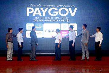 Ra mắt Cổng PayGov hỗ trợ người dân thanh toán dịch vụ công