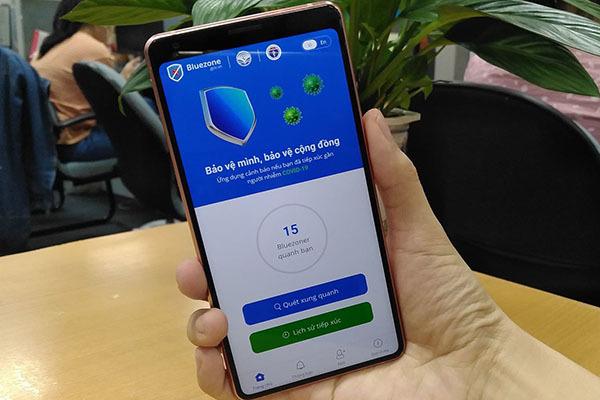 ứng dụng khẩu trang điện tử Bluezone