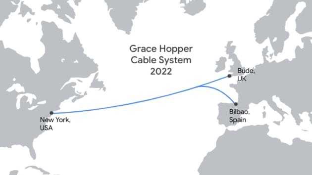 Google xây tuyến cáp quang biển mới nối Anh, Mỹ, Tây Ban Nha