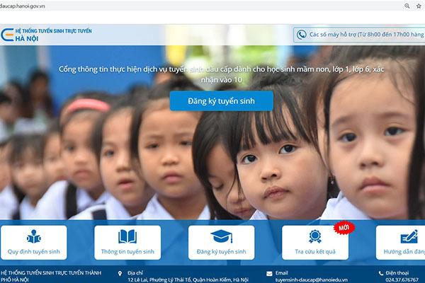 Hà Nội tuyển sinh trực tuyến vào trường mầm non, lớp 1, lớp 6 từ ngày 1/8