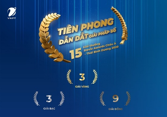 VNPT đạt 15 giải thưởng tại Stevie Awards Châu Á – Thái Bình Dương 2020
