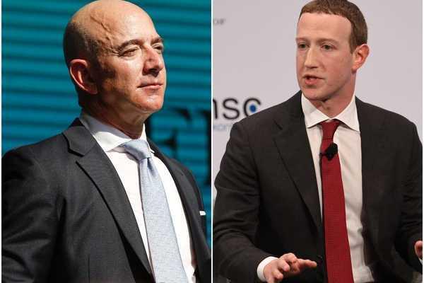 Mark Zuckerberg và Jeff Bezos kiếm về 14 tỷ USD chỉ trong một ngày