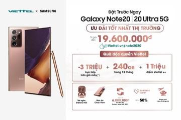 Mua Galaxy Note 20 với gói ưu đãi lên tới 19,6 triệu đồng