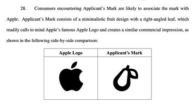 Apple kiện công ty dùng logo quả lê