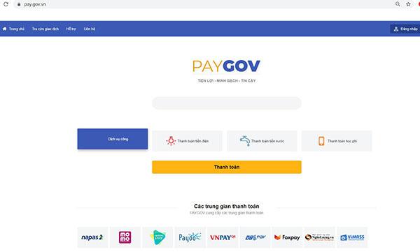 Đã có 10 bộ, tỉnh kết nối Cổng dịch vụ công với hệ thống PayGov