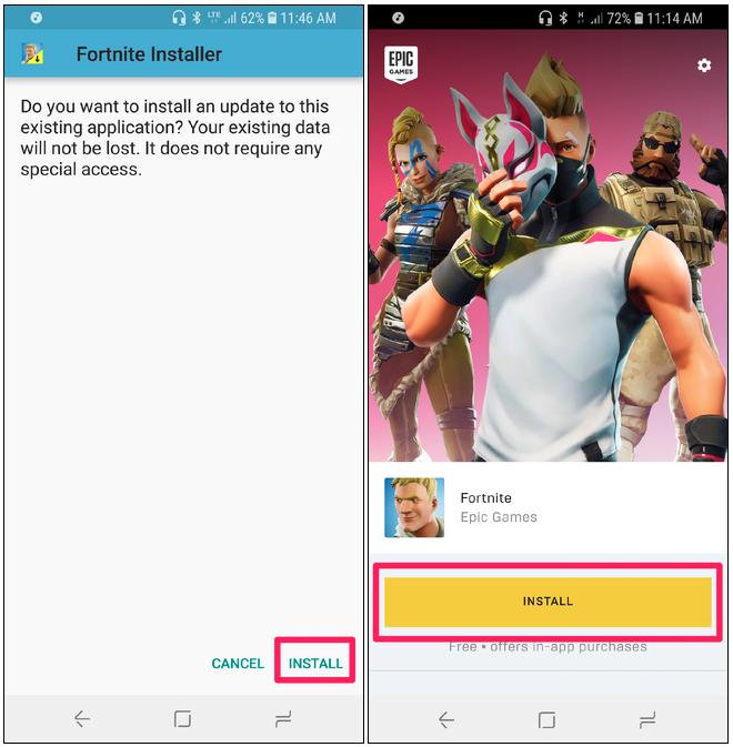 Cách tải game Fortnite về Android không qua Google Play Store