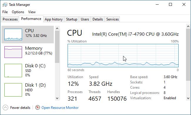 Hướng dẫn theo dõi hiệu suất chạy Windows 10 liên tục bằng cửa sổ nổi