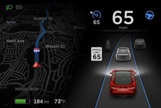 Xe Tesla có thêm khả năng đọc biển báo tốc độ