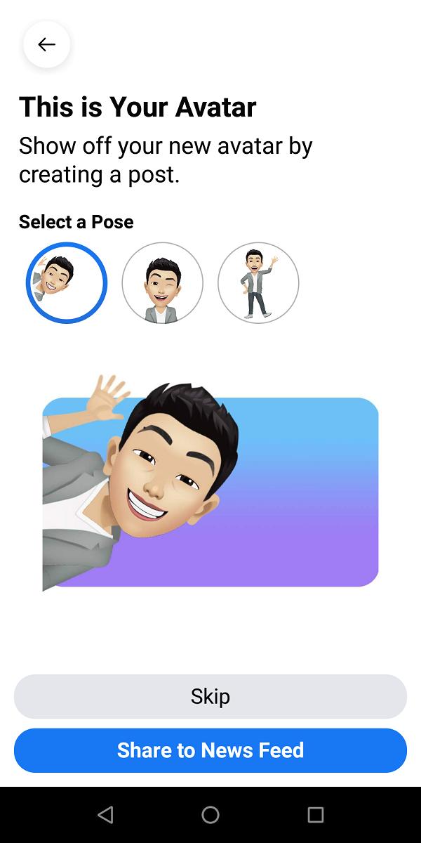Hướng dẫn tạo Facebook Avatar phiên bản hoạt hình của chính bạn