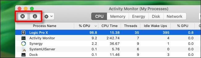 """""""Task Manager"""" của máy Mac ở đâu?"""