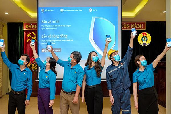 Hơn 6 triệu đoàn viên công đoàn, công nhân, viên chức lao động đã cài Bluezone