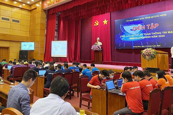 Quảng Ninh diễn tập ứng cứu sự cố tấn công mạng vào hệ thống thông tin quan trọng