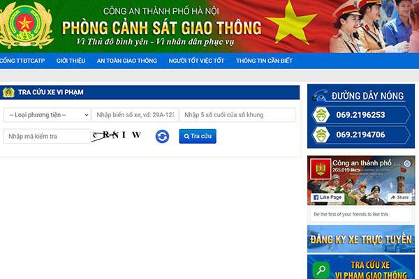 Công an Hà Nội hỗ trợ tra cứu online xe ô tô vi phạm giao thông