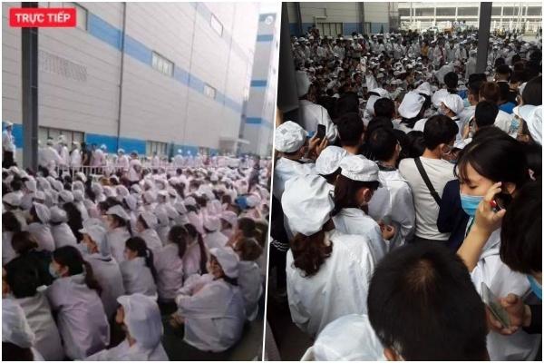 Hàng ngàn công nhân Luxshare-ICT Việt Nam đình công phản đối chính sách lương thưởng - Ảnh 2.