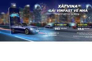 Xài VinaPhone, trúng xe VinFast Lux A2.0 và Klara S