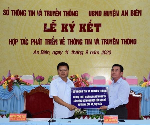 Sở Thông tin và Truyền thông Kiên Giang hướng dẫn huyện An Biên triển khai an toàn, an ninh mạng