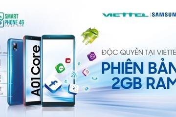 Cơ hội tháng 9: Viettel bán Samsung Galaxy A01 Core chỉ 1.790.000 đồng