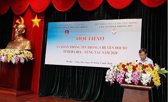 Bà Rịa – Vũng Tàu tổ chức hội thảo đảm bảo an toàn thông tin trong chuyển đổi số