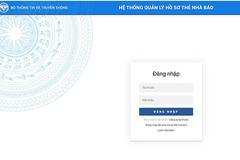 Các Sở TT&TT sẽ được cấp tài khoản truy cập phần mềm quản lý thẻ nhà báo