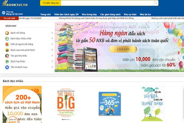 Hội sách trực tuyến trên sàn book365.vn được kéo dài đến giữa tháng 10