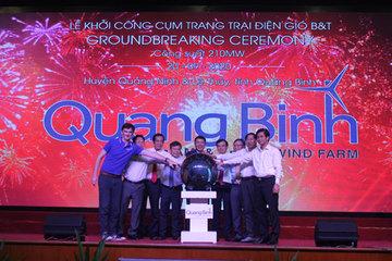 Khởi công công trình điện gió trên đất liền lớn nhất Việt Nam