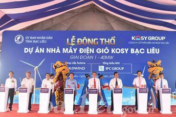 Bạc Liêu khởi công xây nhà máy điện gió thứ 8, công suất 40 MW