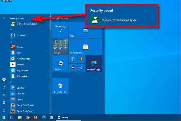 Hướng dẫn ẩn danh sách ứng dụng mới cài trên Windows 10