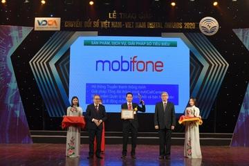 MobiFone nhận giải thưởng chuyển đổi số Việt Nam 2020