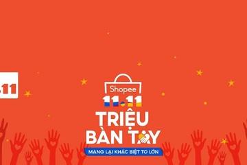 Ví điện tử AirPay đồng hành cùng Shopee gây quỹ Shopee 11.11 Triệu Bàn Tay