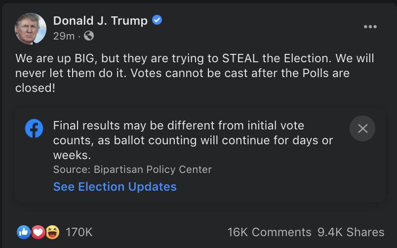 Twitter cứng rắn, Facebook nương tay trong ngày bầu cử Mỹ
