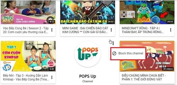 Các thiết lập an toàn cho trẻ em xem YouTube
