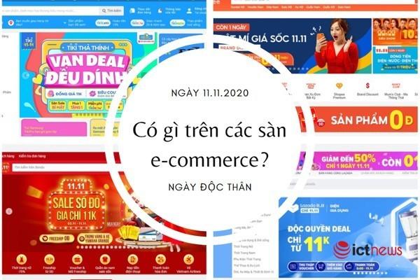 Sàn thương mại điện tử có khuyến mại gì đặc biệt vào ngày 11/11?