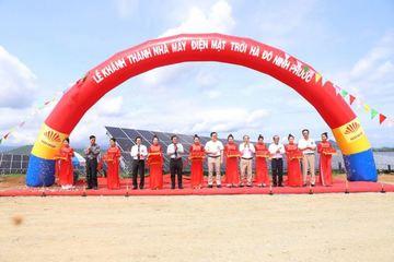 Ninh Thuận: Khánh thành nhà máy điện mặt trời 58,7ha