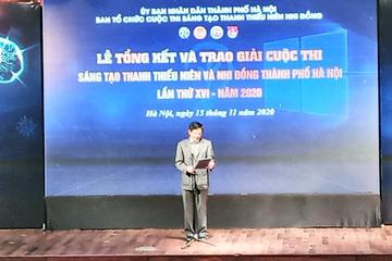 Hà Nội: Học sinh lớp 8 nhận giải đặc biệt cuộc thi Sáng tạo thanh thiếu niên và nhi đồng lần thứ 16