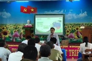 Phổ cập kiến thức điện mặt trời mái nhà đến cán bộ xã ở Đồng Tháp