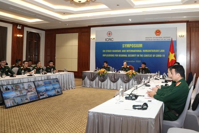 """Bộ Quốc phòng tổ chức hội thảo """"Chiến tranh mạng và Luật Nhân đạo Quốc tế"""""""