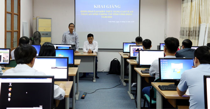 Vĩnh Phúc huấn luyện diễn tập bảo đảm an toàn thông tin cho cán bộ chuyên trách