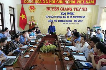 Tập huấn sử dụng chữ ký số chuyên dùng Chính phủ cho lãnh đạo địa phương