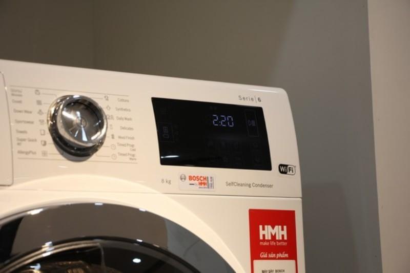 Đánh giá Bosch HMH.WTW876H8SG: Máy sấy bảo vệ quần áo 'hàng hiệu'
