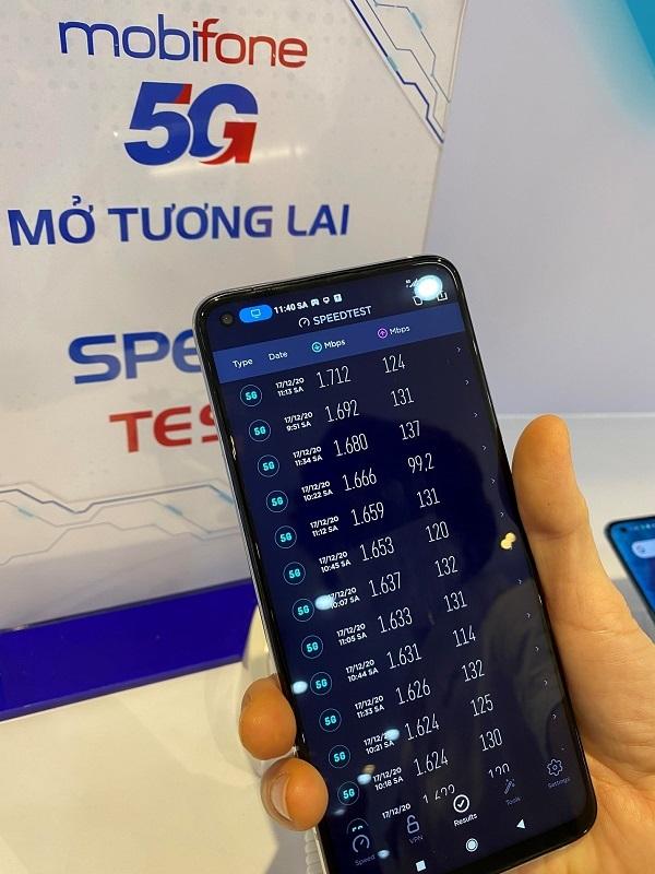 """Trải nghiệm thực tế mạng 5G MobiFone: Tốc độ download """"lập đỉnh"""" với hơn 1,7Gbps"""